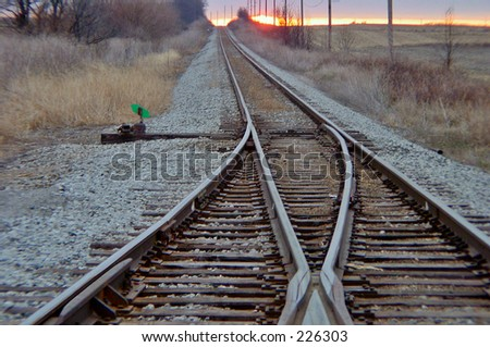 Railroad Tracks - stock photo