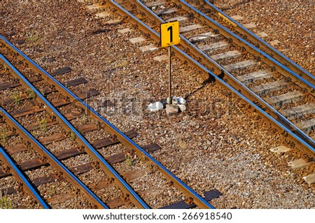 Railroad tracks high angle view
