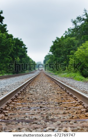Railroad Tracks-Shallow depth of field