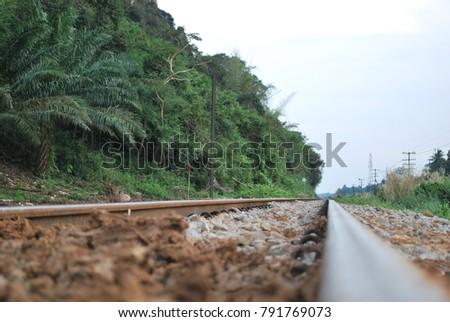 railroad tracks transportation stock photo royalty free 791769073