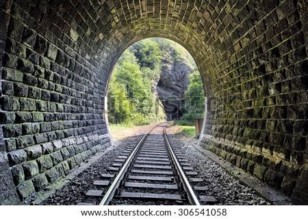 Railroad Tunnel - Harmanec, Slovakia - stock photo