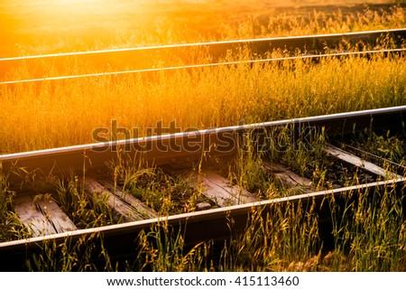 Rails - stock photo