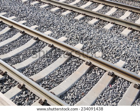 Railway - stock photo