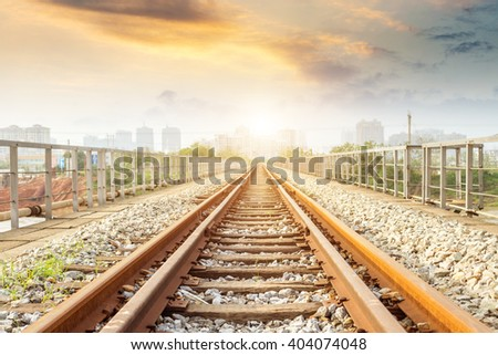 Railway - stock photo