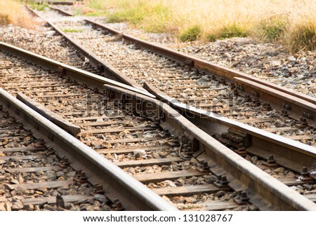 Railway and Crossing rail track