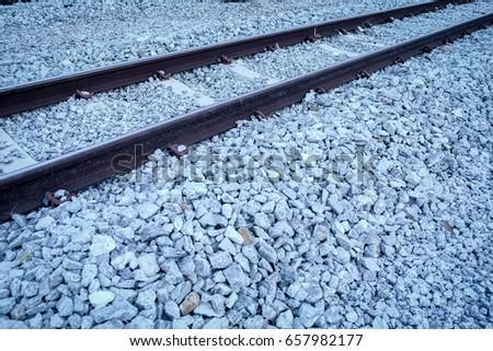 Railway and gravel