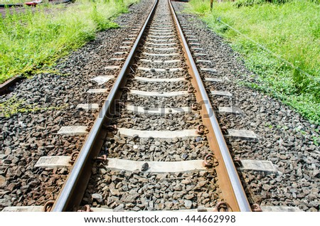 Railway and grit - stock photo