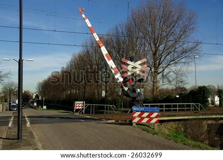 Railway barrier - stock photo