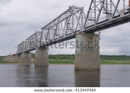 Railway bridge across the river