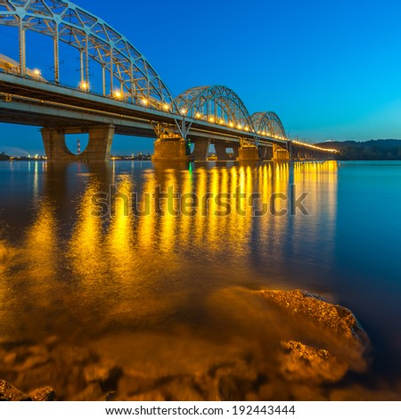 Railway Bridge. Ukraine. Kiev. - stock photo