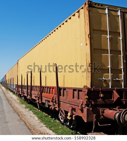 Railway Conveyance - stock photo