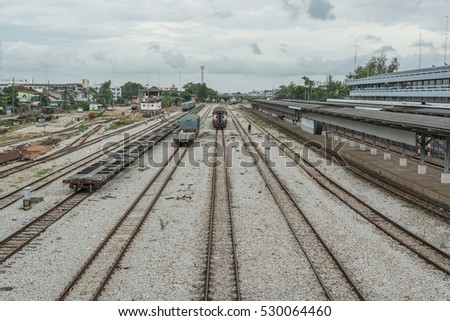 Railway  for train transportation