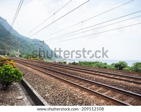 railway in Taiwan - stock photo