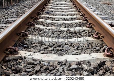Railway in Thailand. - stock photo