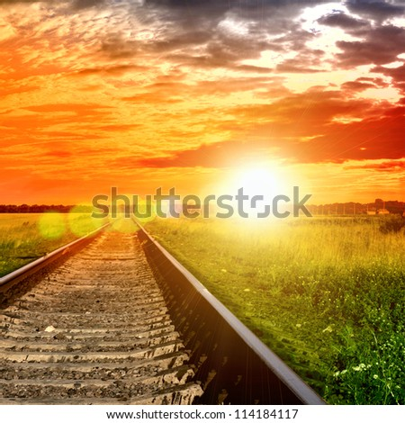 Railway into the bloody sunset