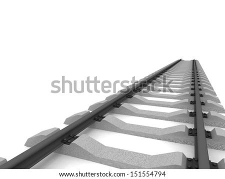 Railway isolated on white