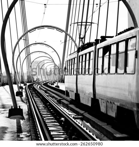 Railway line - stock photo