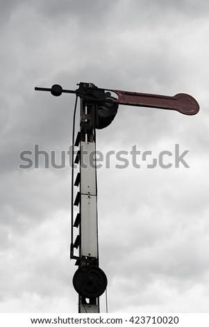 Railway signalling - stock photo