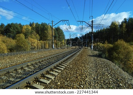 railway signs and equipment  - stock photo
