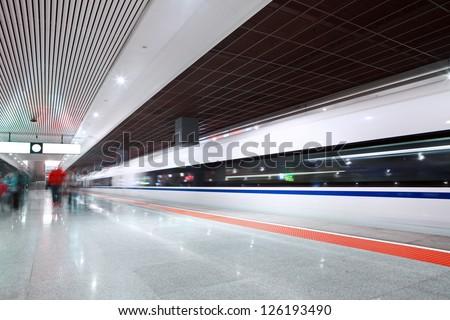 railway station - stock photo
