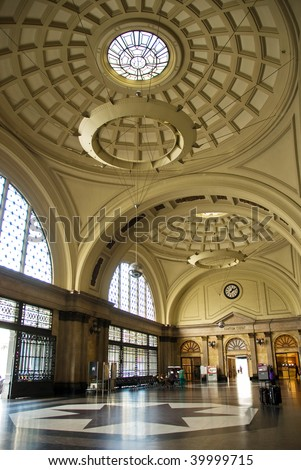 railway station - stock photo