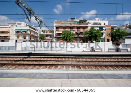 Railway station in Sitges, Spain