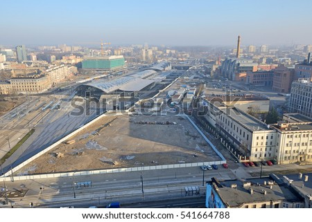 Railway station, Lodz, Poland
