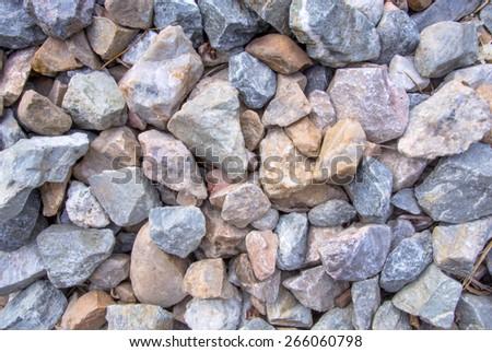 Railway stone texture background - stock photo