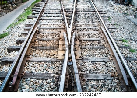 Railway switch point. When the train arrive some where. need to change from the line to other line. every destination point of transportation