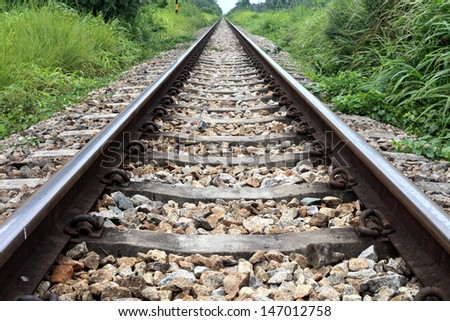Railway Thailand - stock photo