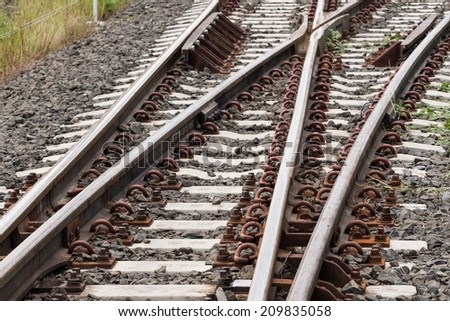 Railway Thailand. - stock photo