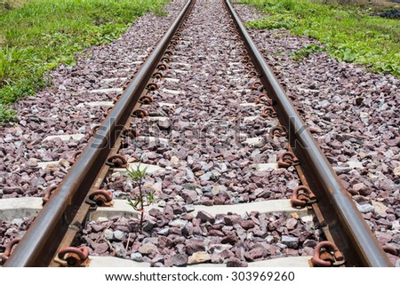 Railway track in sunny day