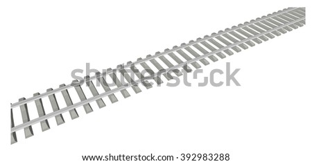RAILWAY TRACK on white background 4