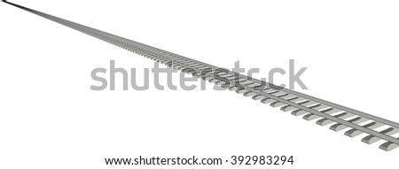 RAILWAY TRACK on white background 1
