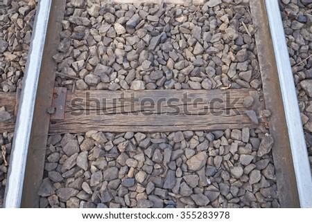 Railway tracks in thailand - stock photo