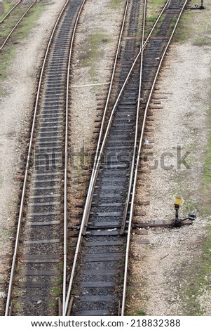 railway tracks leading to different ways