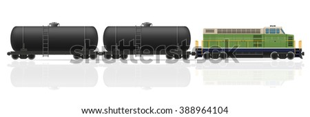 railway train with locomotive and wagons illustration isolated on white background