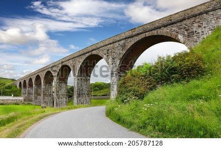 Railway Viaduct in Cullen Scotland - stock photo