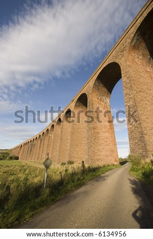 Railway Viaduct, over the river Nairn at Culloden, near Inverness, Scotland.