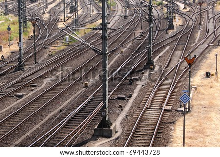railways rails and switches