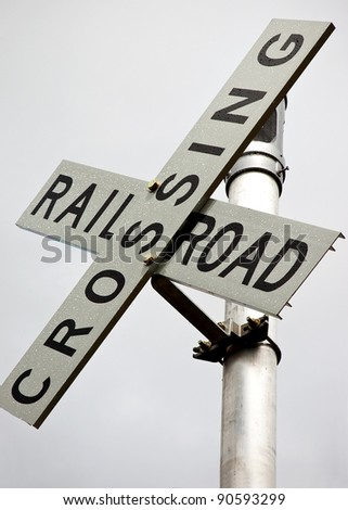 Railyard Switch Flags - stock photo