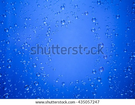 rain drop on glass as a background