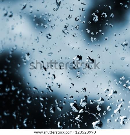 Rain drops abstract - stock photo