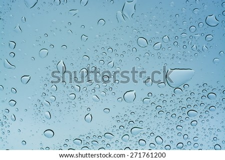Rain drops background, water raindrop - stock photo