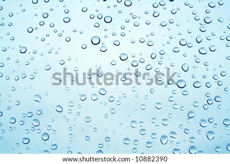 rain drops on glass textured background - stock photo