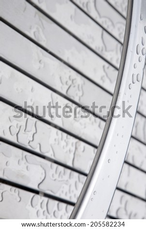 Rain Drops on Silver Diagonal Background