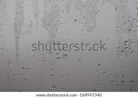 rain drops on the window - stock photo