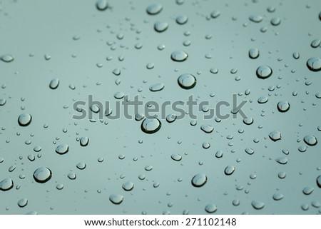 Rain drops on windshield car. - stock photo