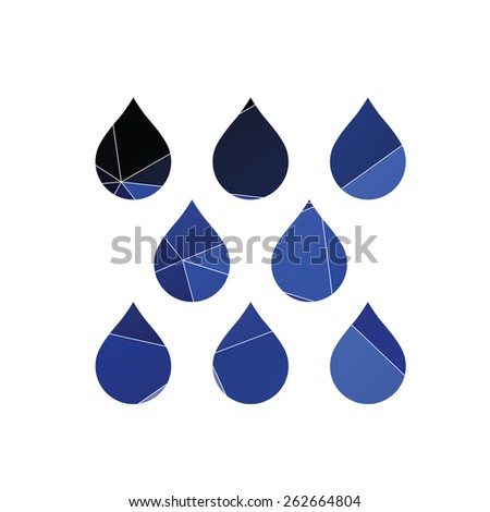 rain icon Abstract Triangle Geometrical background