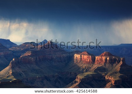 Rain in Grand Canyon National Park
